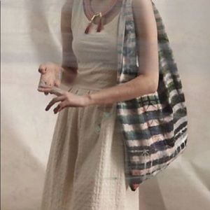 Anthropologie Deletta Embossed Torchon Dress